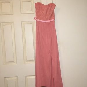This is a bright pink formal dress
